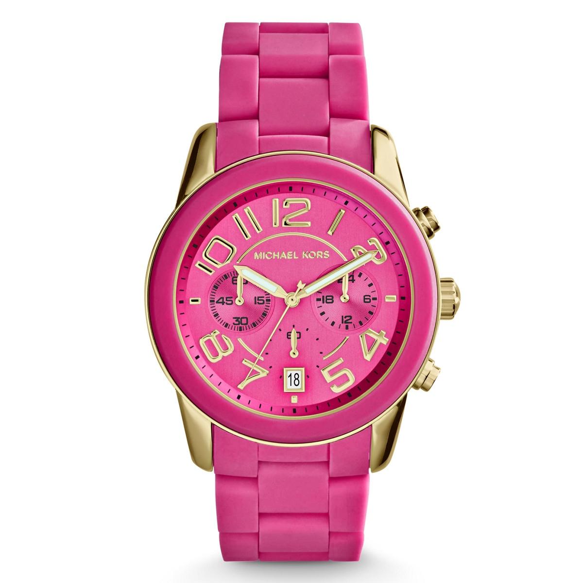 розовые часы michael kors женщине при выборе